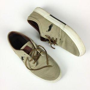 Polo Ralph Lauren Mens Sneaker Tan Faxon size 8